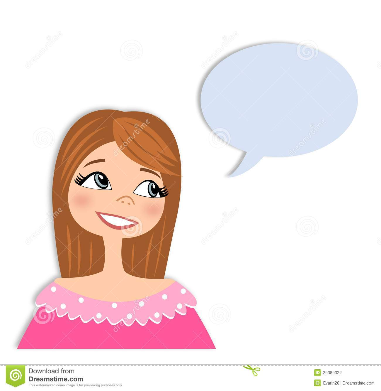 More similar stock images of ` Girl in conversation Cartoon character ...