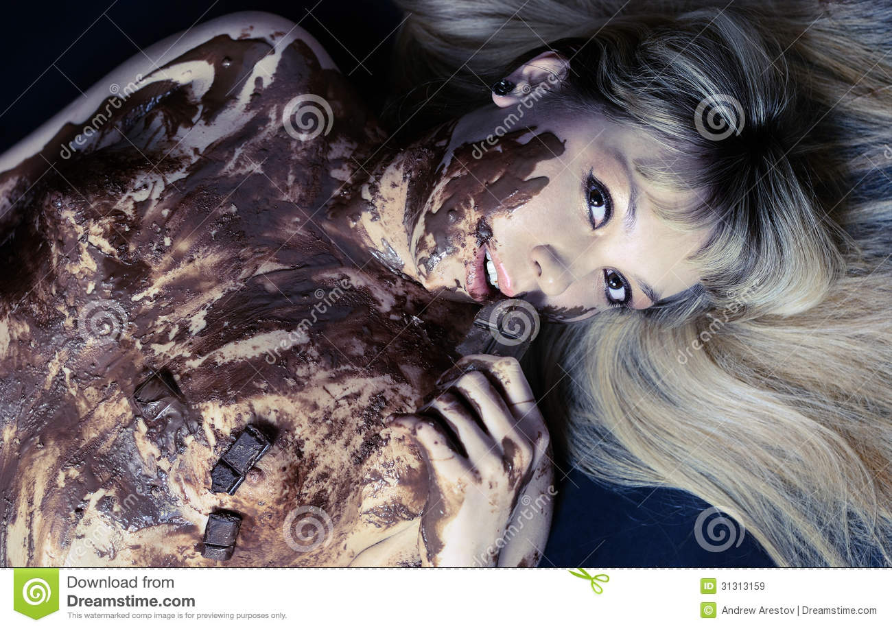 The abstract Hot girl in chocolate nude where