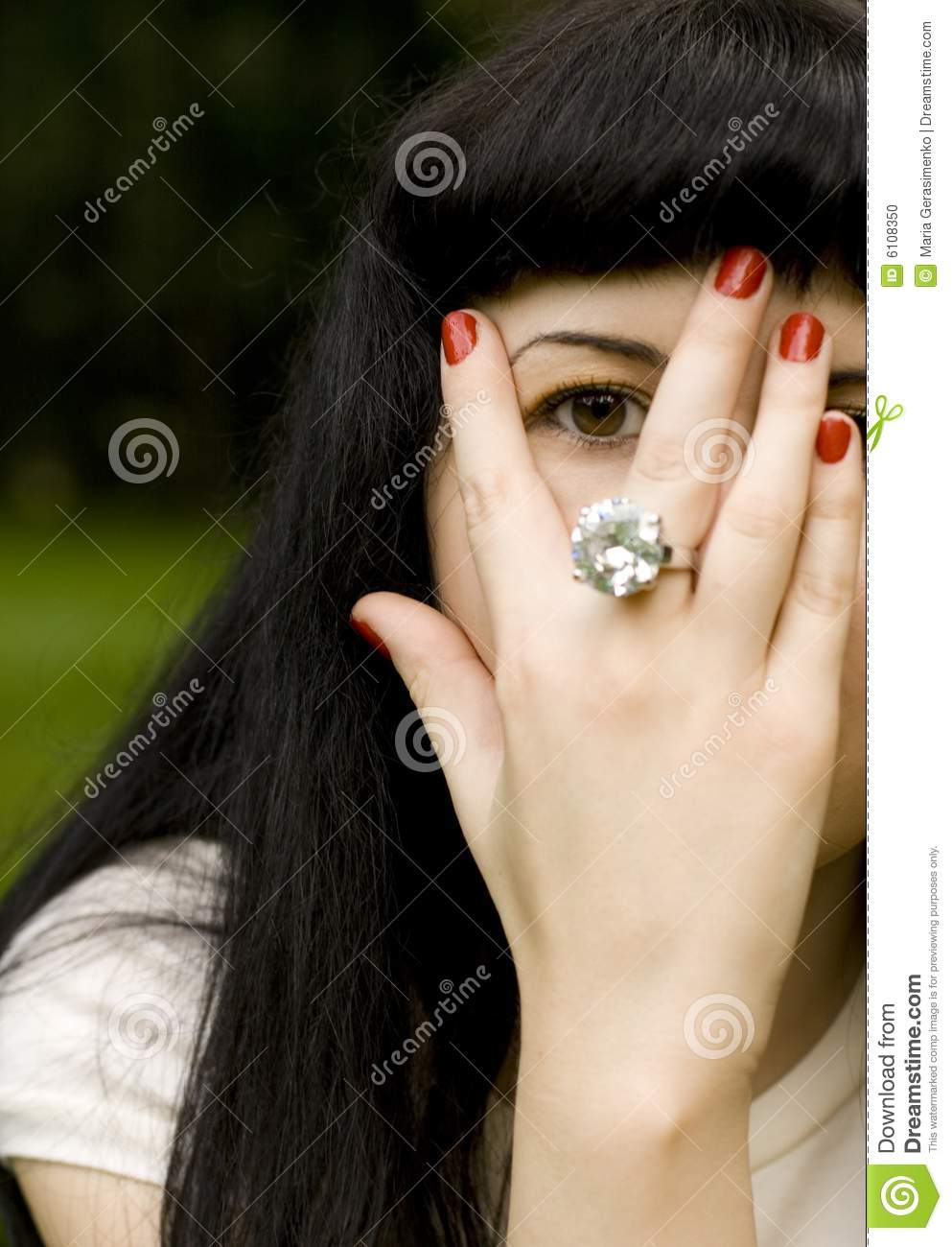 Girl Covering Her Face Stock Photo Image 6108350