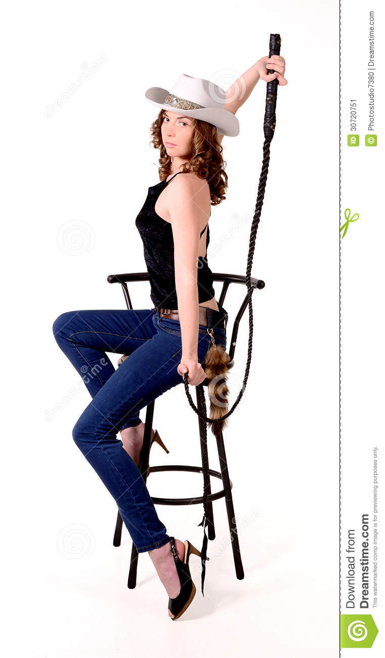 Girl In A Cowboy Hat Stock Image Image 30720751 : girl cowboy hat poses whip bar stool 30720751 from www.dreamstime.com size 761 x 1300 jpeg 81kB