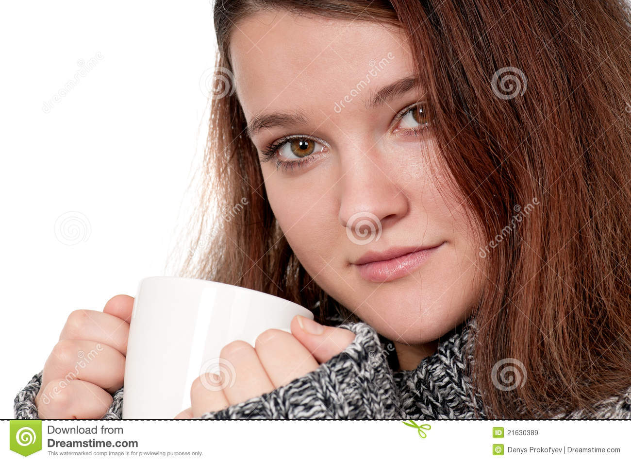 Girl With Cup Royalty Free Stock Images - Image: 21630389
