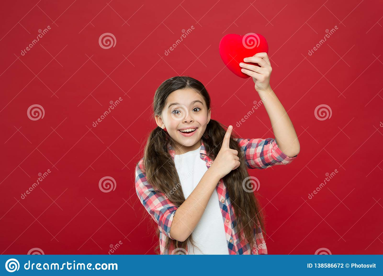 Girl cute child hold heart symbol love. Celebrate valentines day. Love and romantic feelings  sc 1 st  Dreamstime.com & Girl Cute Child Hold Heart Symbol Love. Celebrate Valentines Day ...