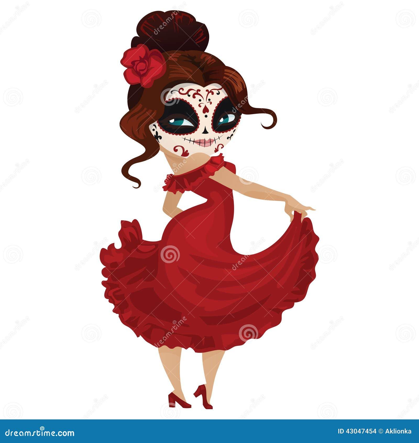 Girl Dancer On Carnival Stock Vector Image 43047454
