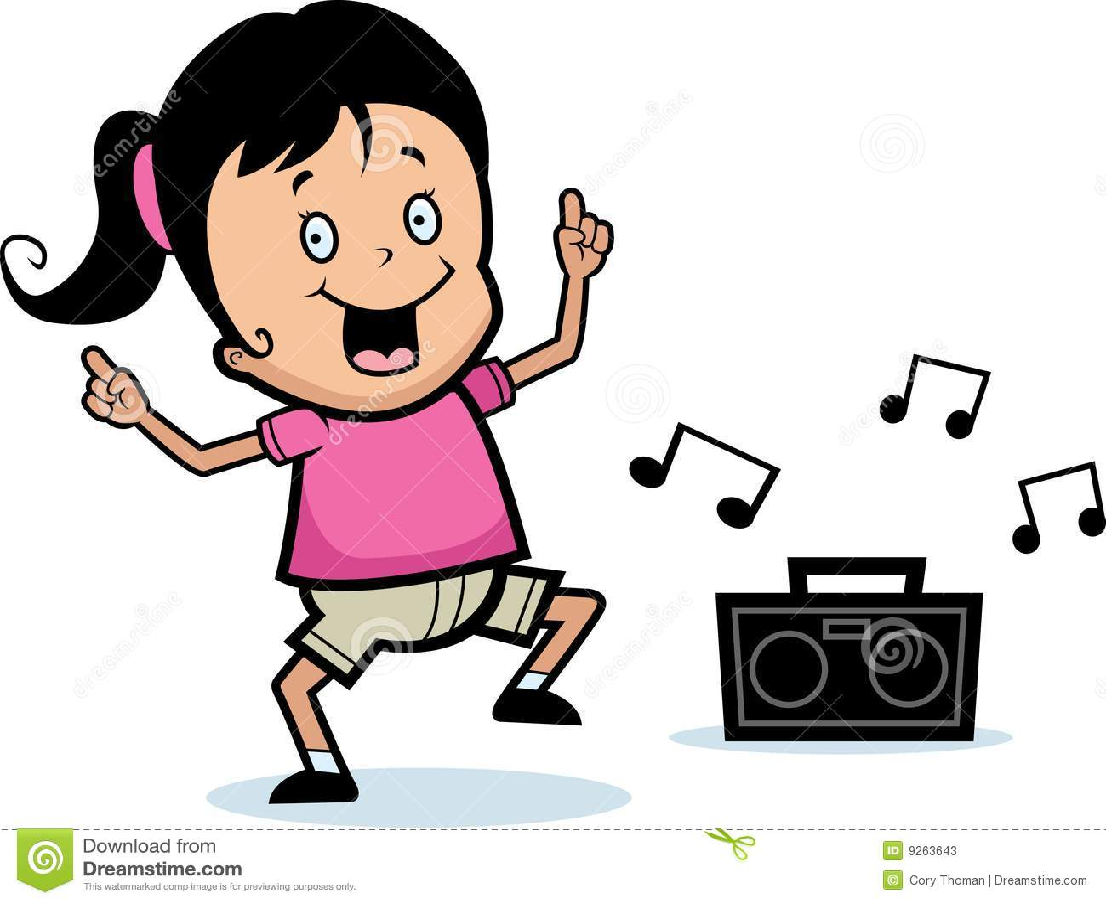 Girl Dancing Stock Vector. Illustration Of Radio, Vector