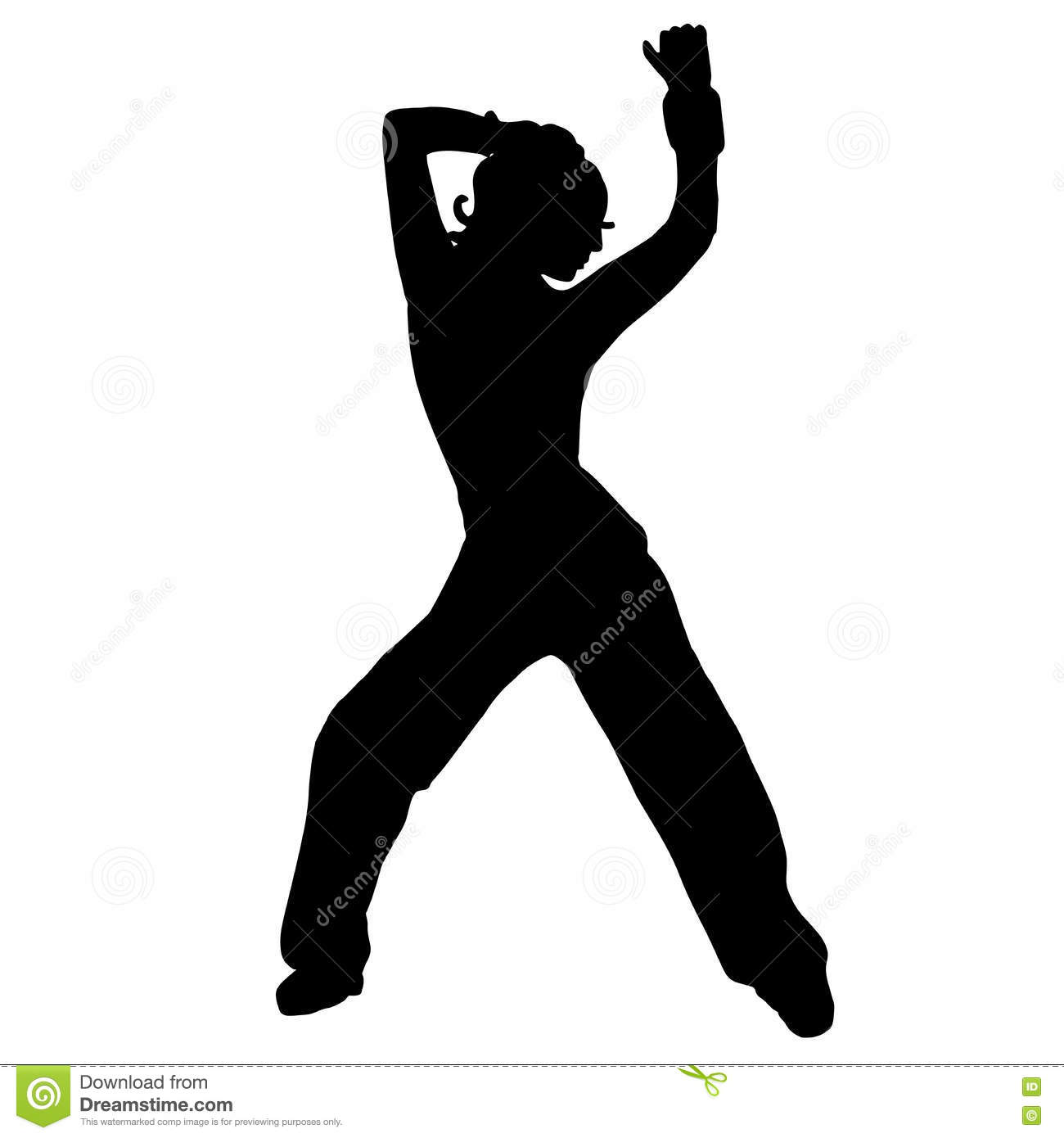 The Girl Is Dancing Belly Dancing Silhouette Street Dance Go Illustration 77880966 Megapixl