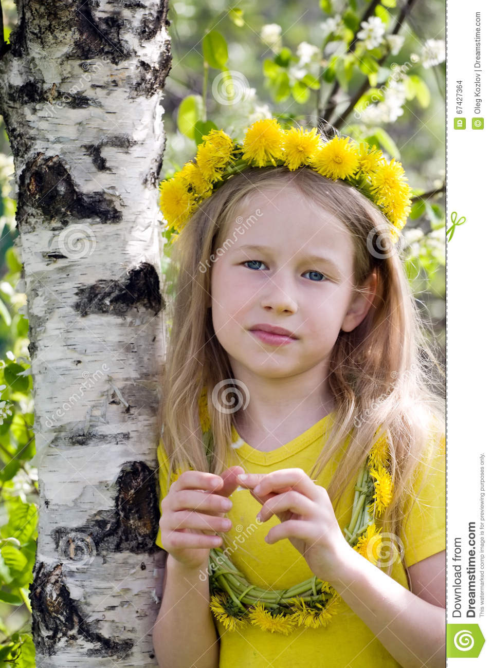Girl in dandelion crown