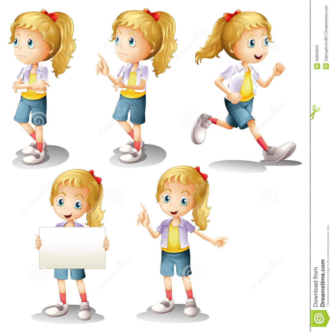 A Girl With Different Positions Stock s Image