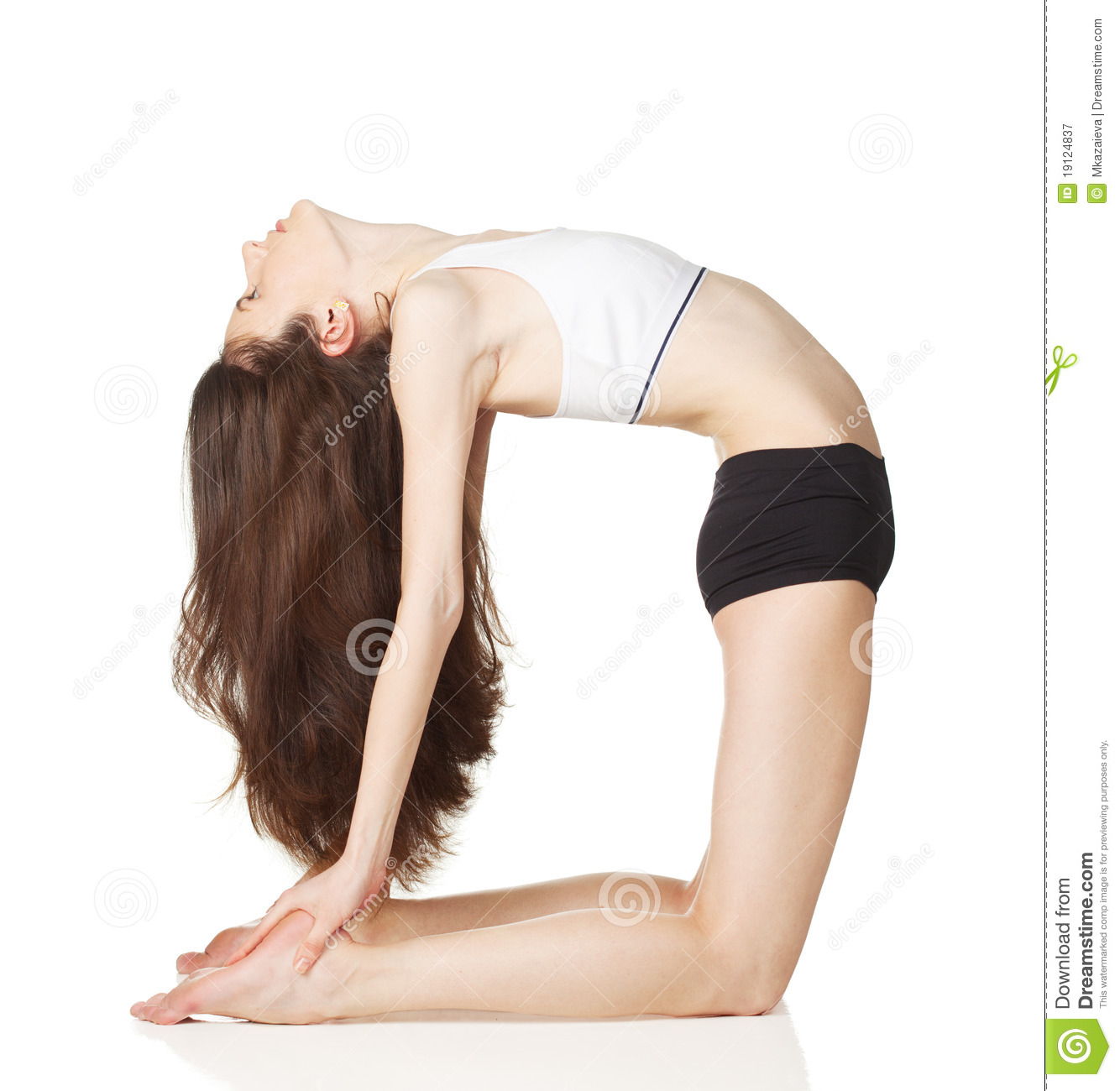 Girl Do Yoga Exercises Royalty Free Stock Photography - Image ...