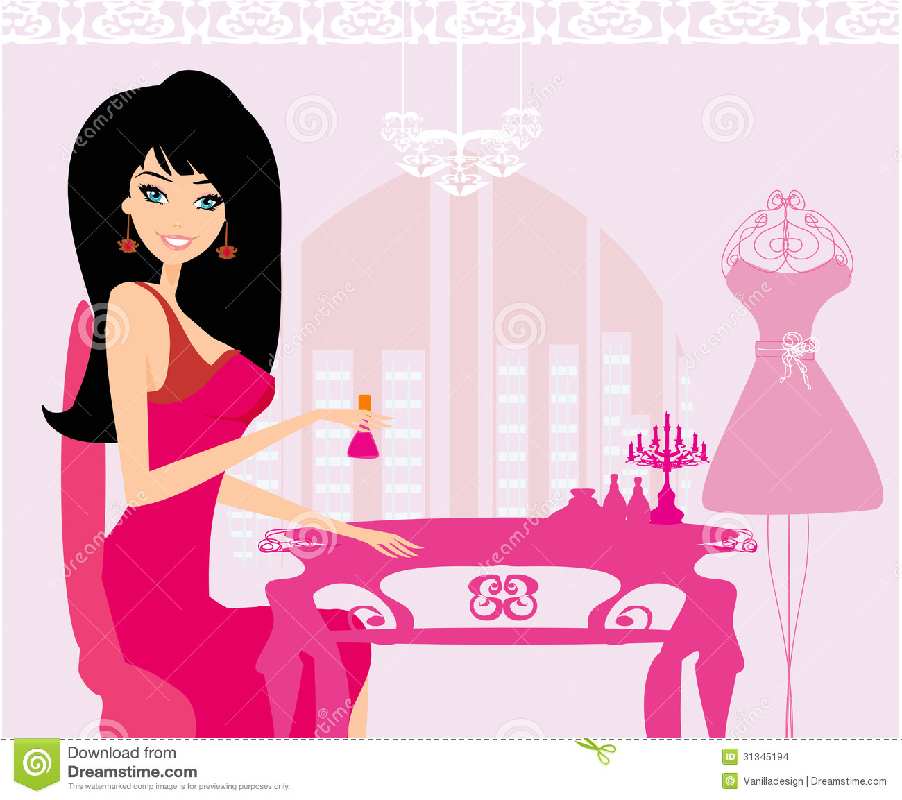 Fashion Nail Salon And Beauty Spa Games For Girls: Girl Does A Manicure Stock Images