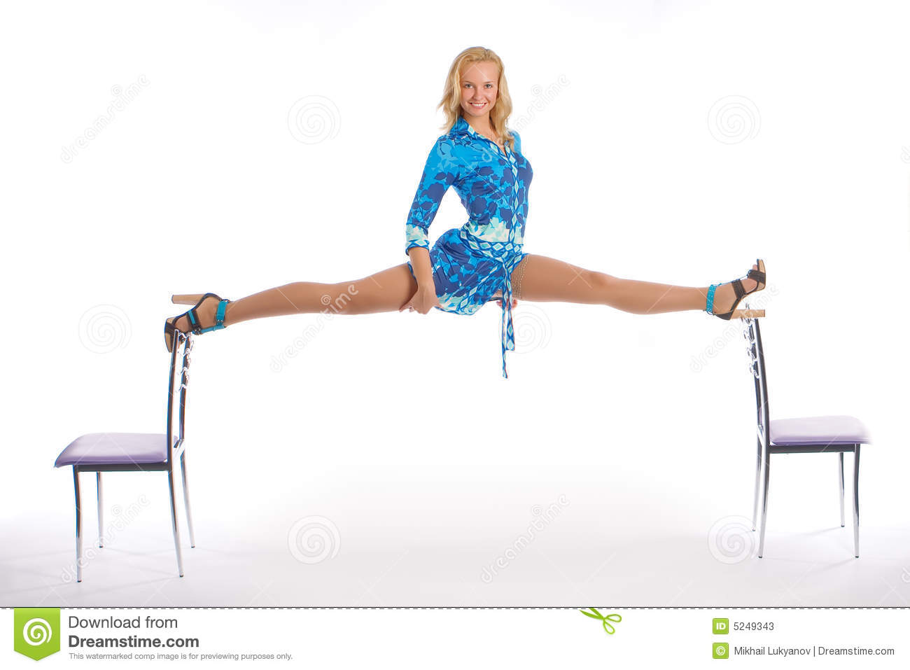 The Girl Does A Splits Stock Image Image Of Heel Freedom