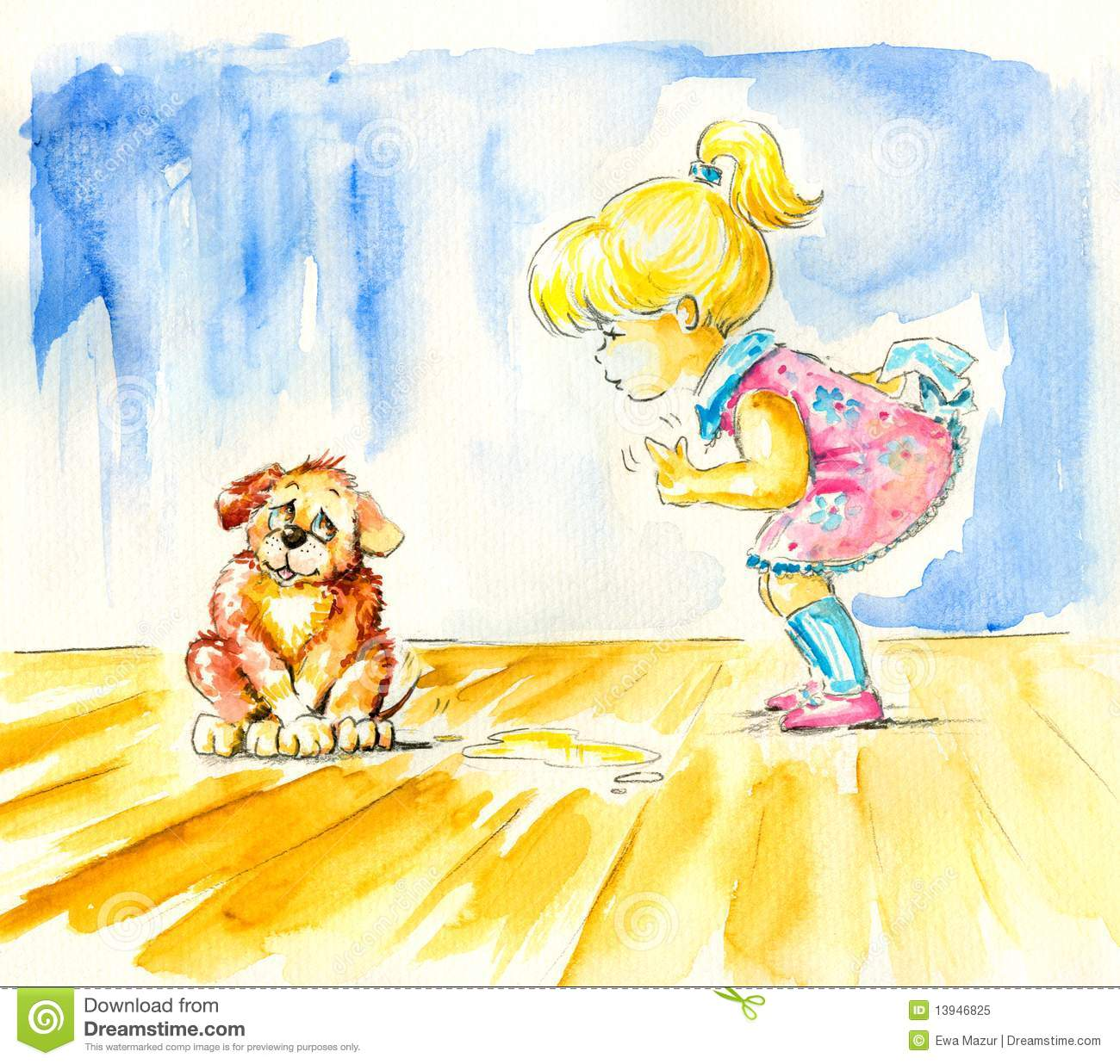 Little Houses Designs: House Training Puppy Poop Pee Royalty-Free Cartoon