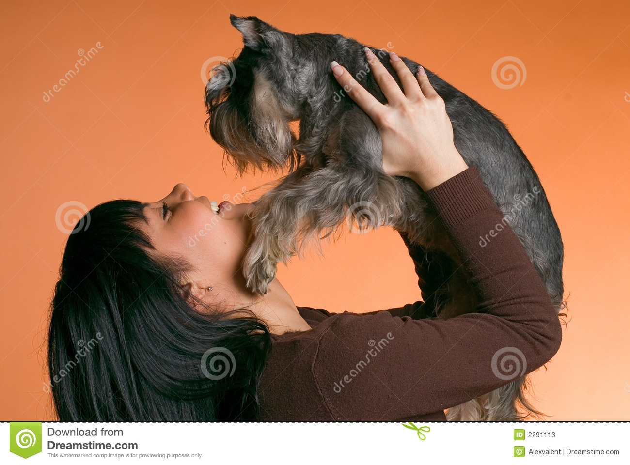 The girl with a dog