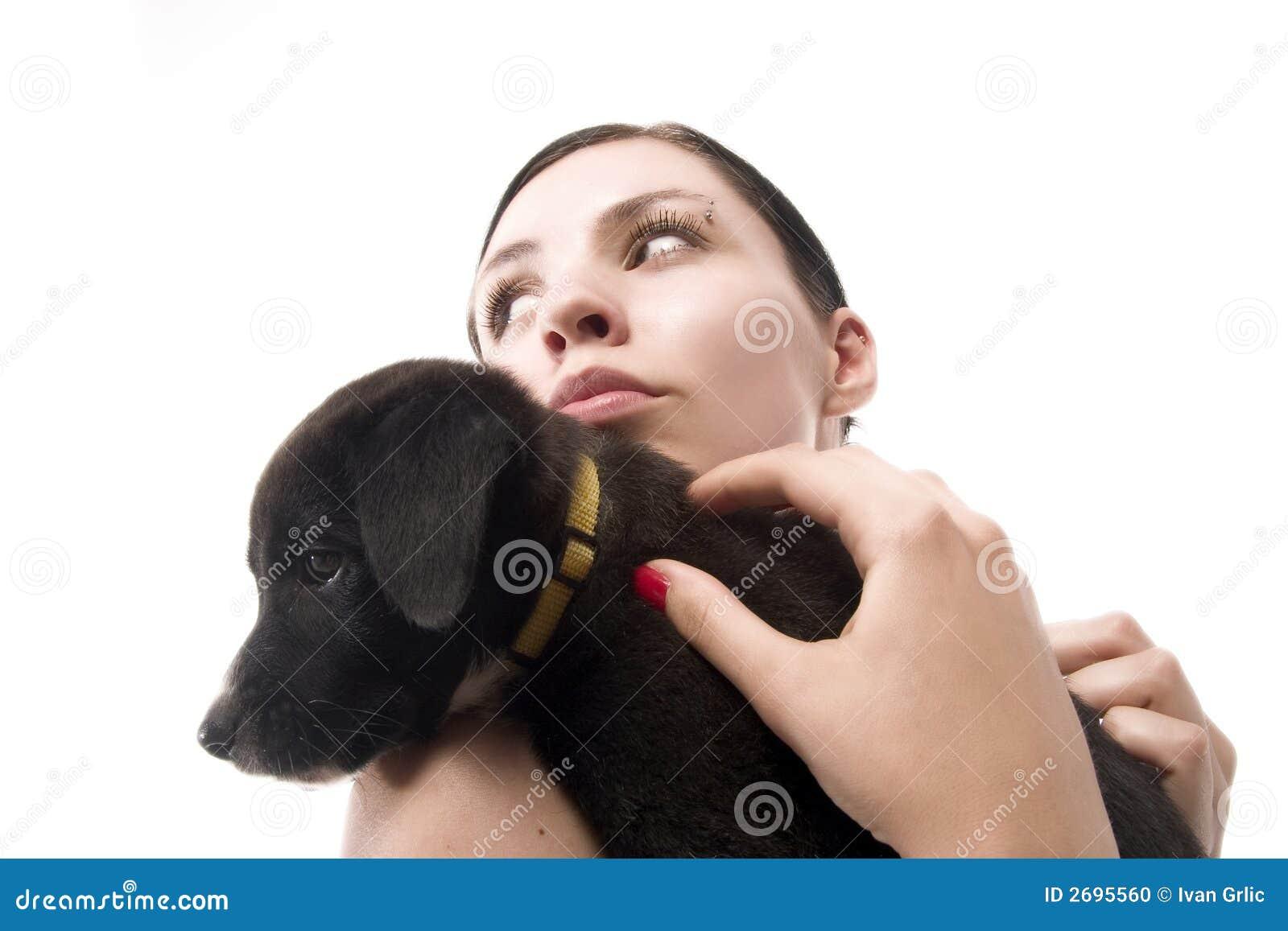 Girl with dog 3