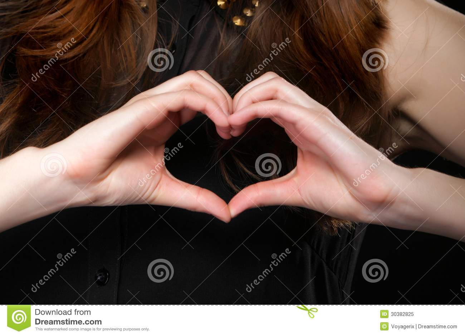 Girl Doing Heart Shape Love Symbol Her Hands Stock Images 36 Photos