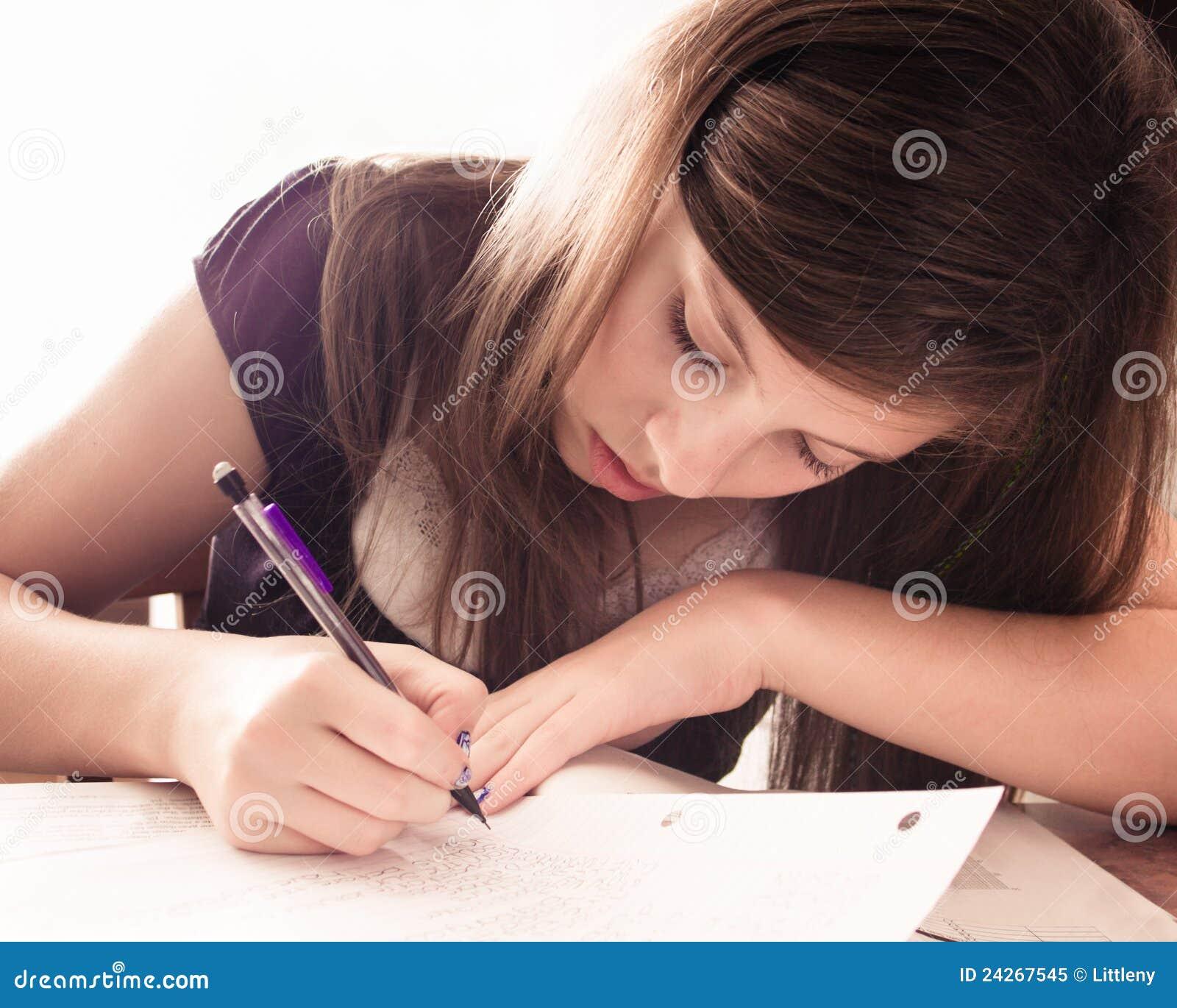 Girl Doing Homework Royalty Free Stock Photo Image 24267545