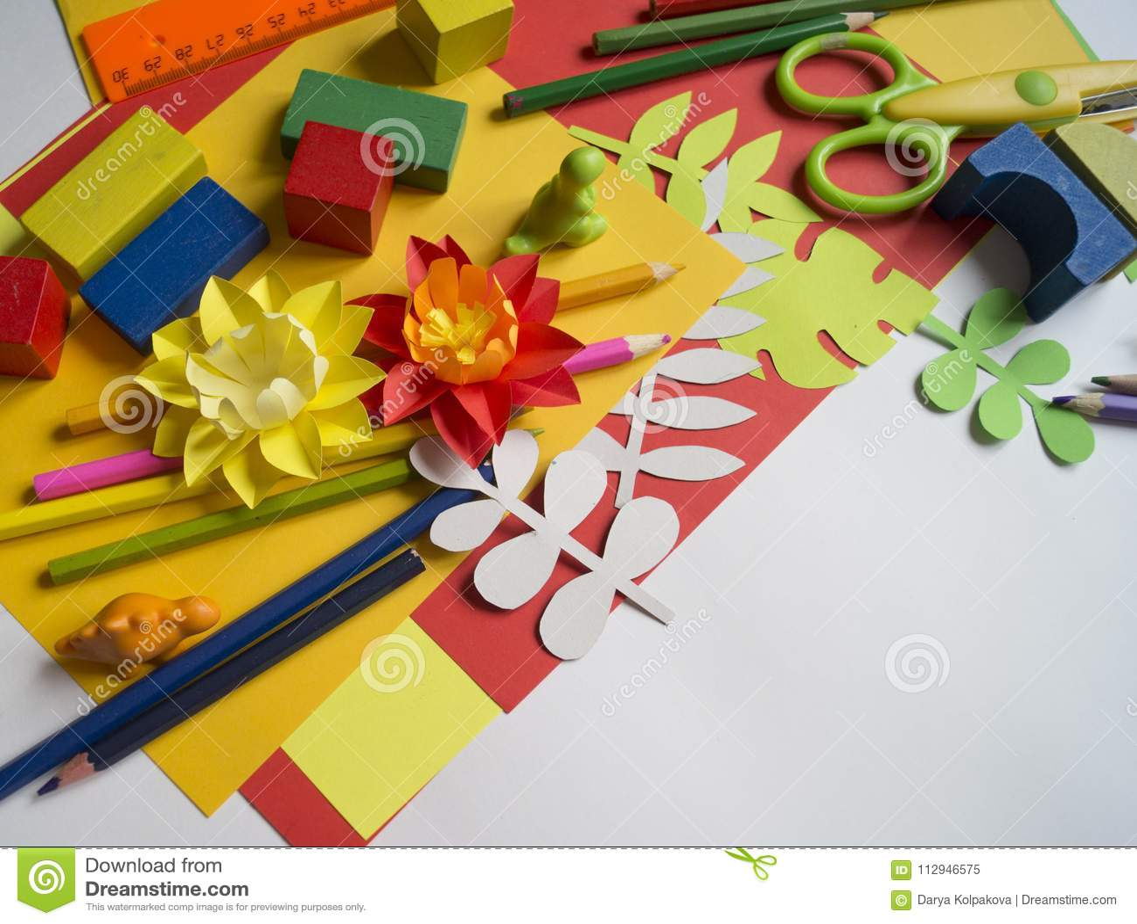 Girl Draws Children S Creativity Favorite Hobby For Children