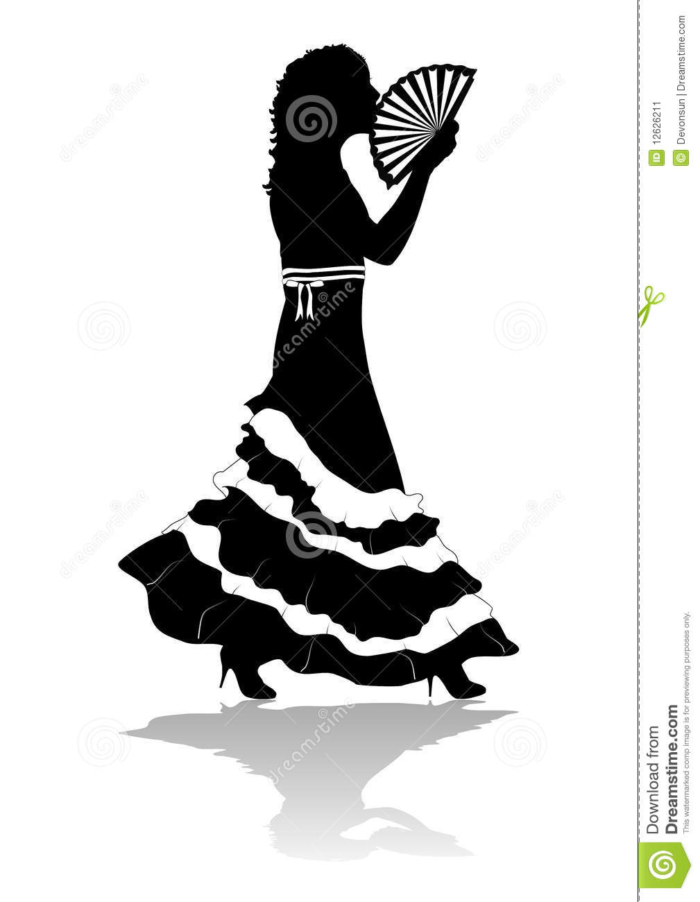 Girl In Dress Silhouette Stock Image - Image: 12626211