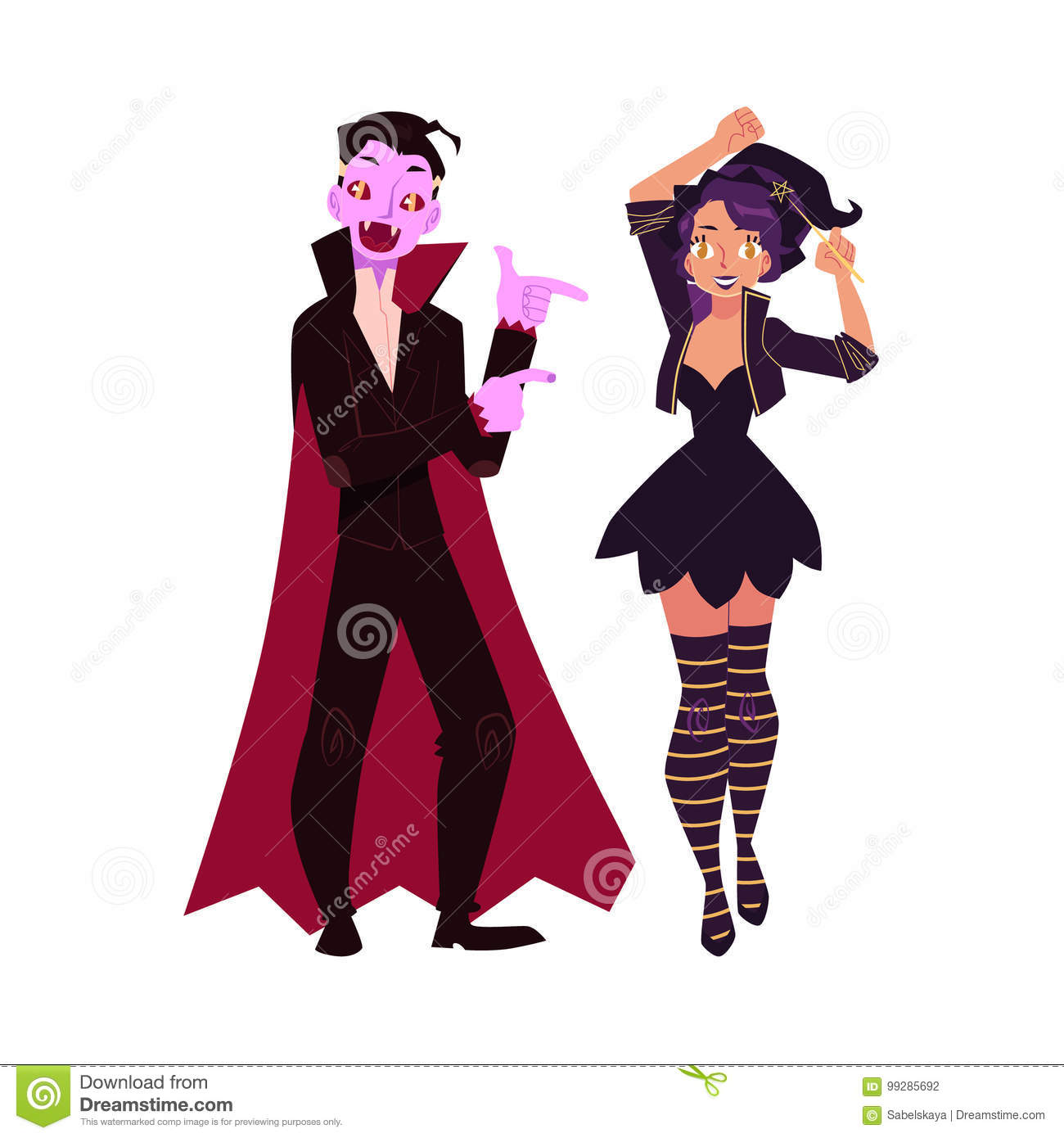 2f7ada04ecf Royalty-Free Vector. Girl dressed as witch