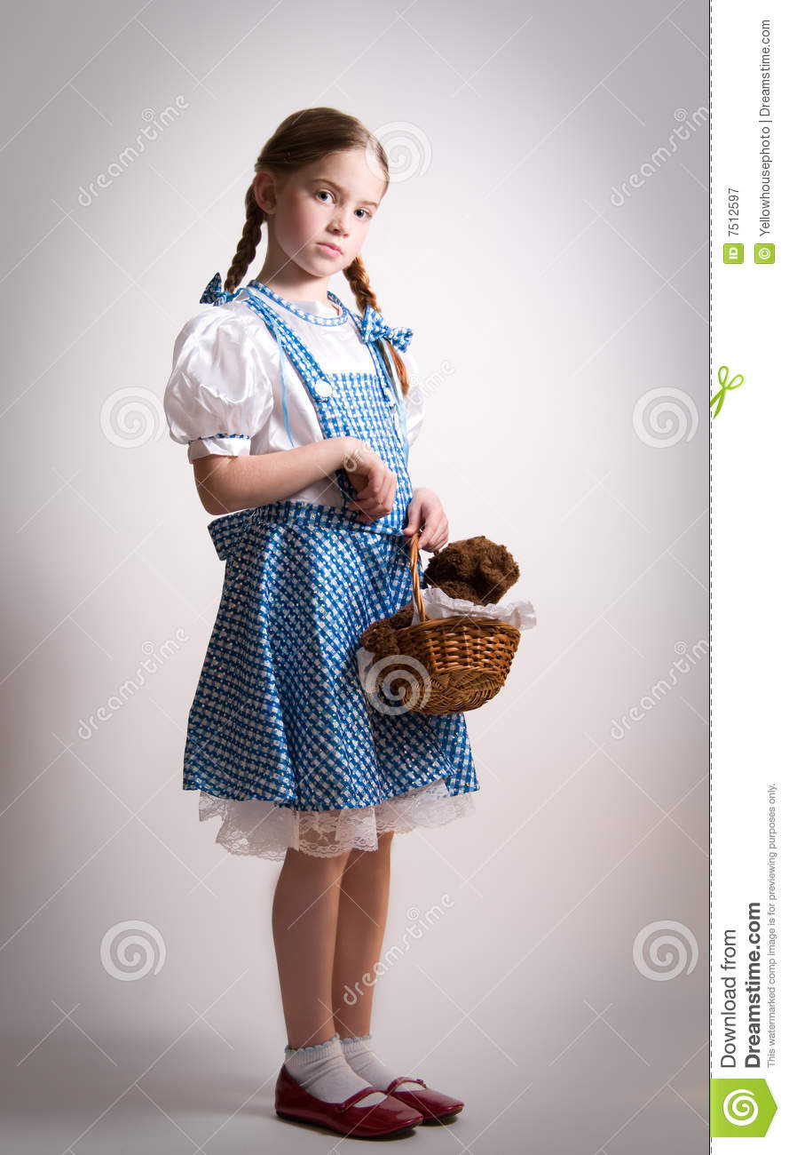 Girl dressed up as Dorothy from Oz