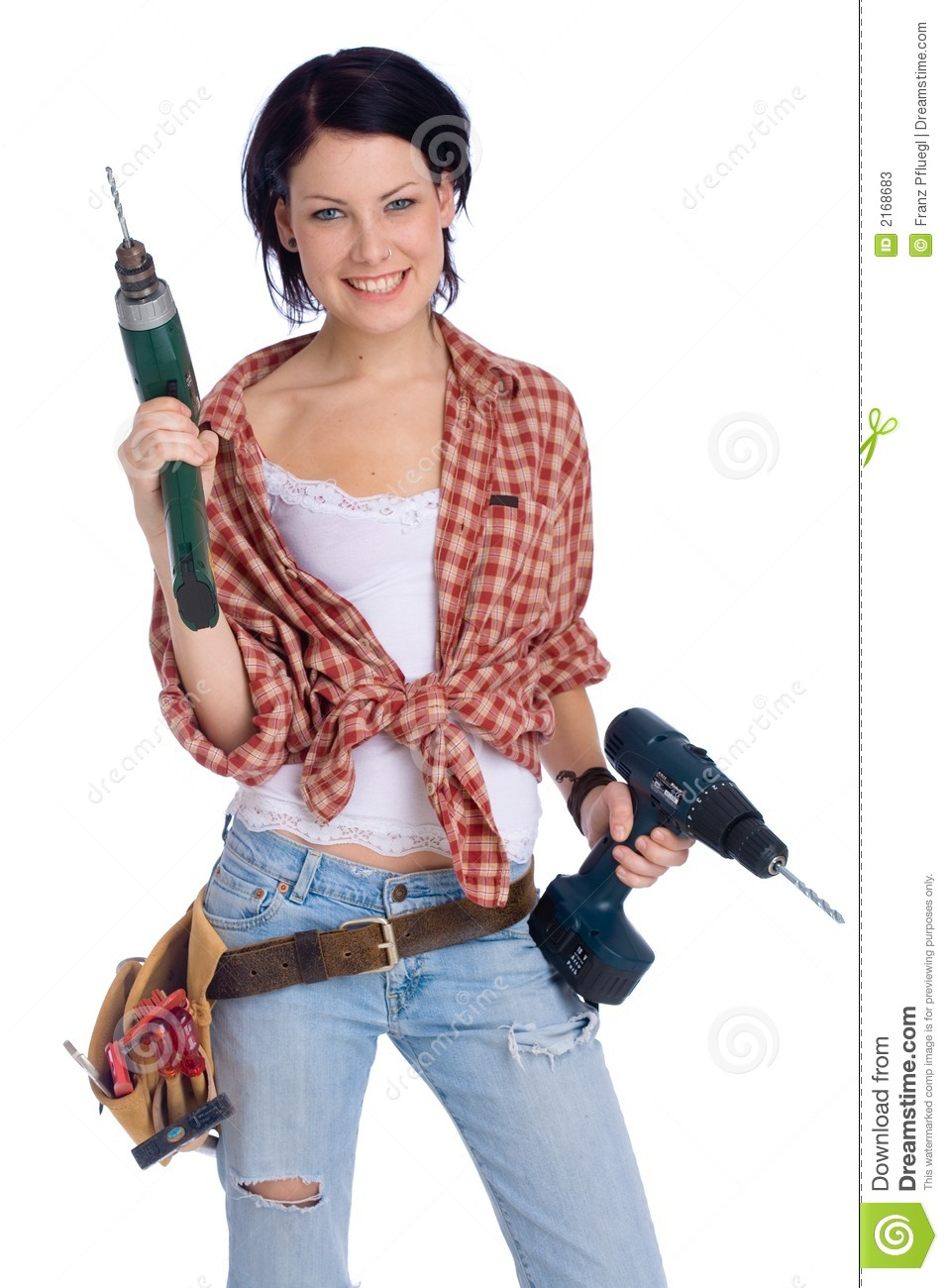 Girl With Drill Stock Image Image Of Craft Fixing