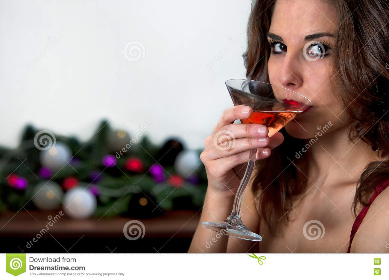 Girl drinking Cocktail