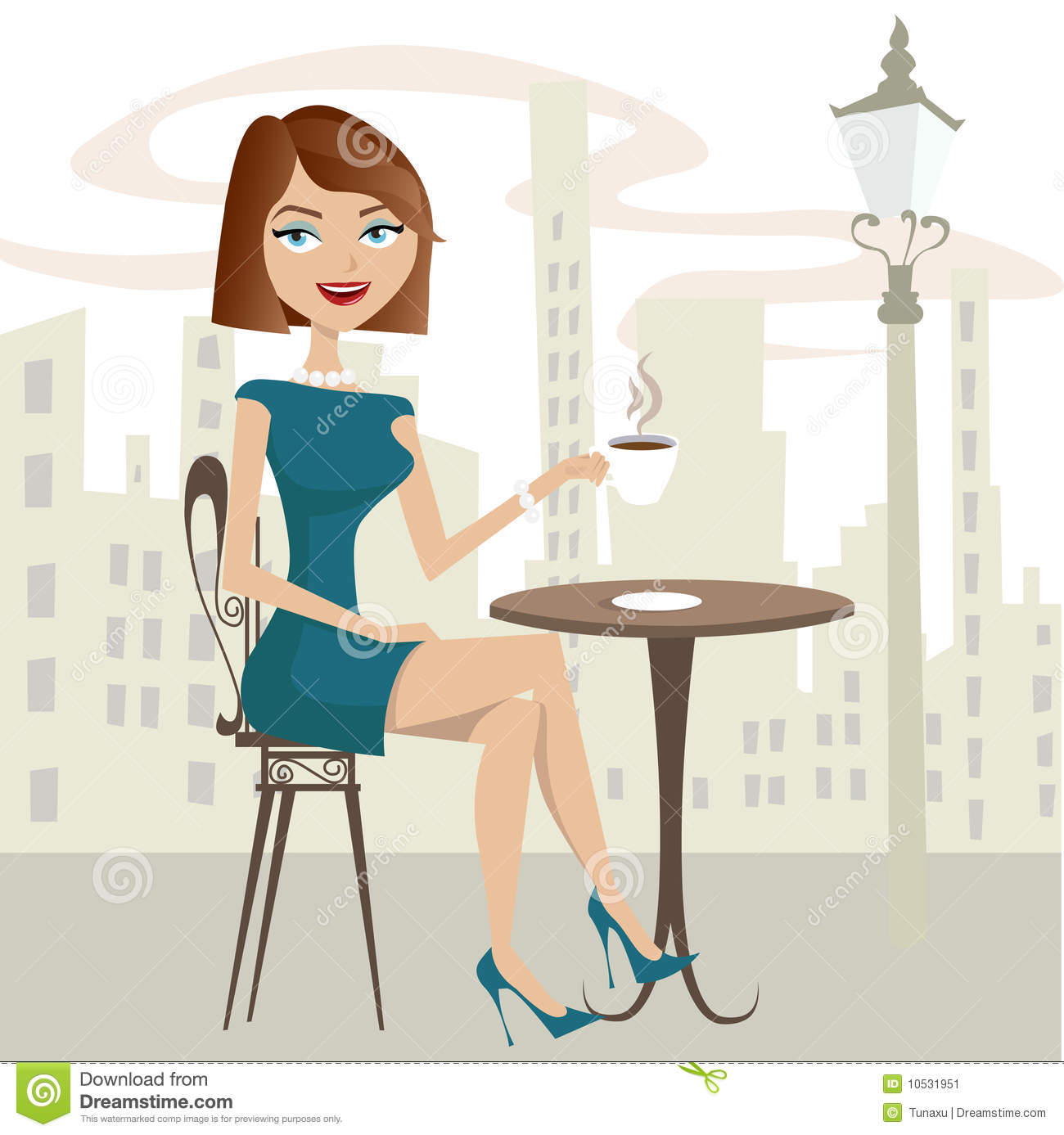Girl Drinking Coffee Stock Image - Image: 10531951