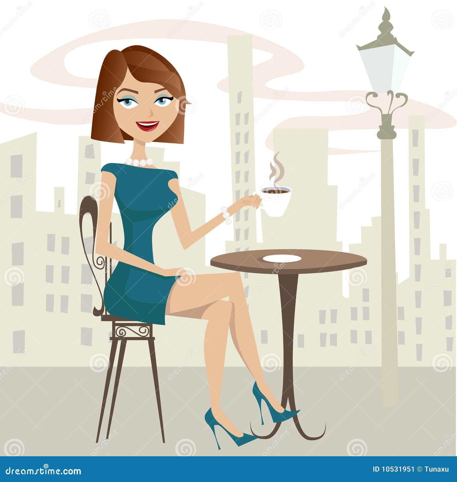 Girl Drinking Coffee Stock Image - Image: 10531951