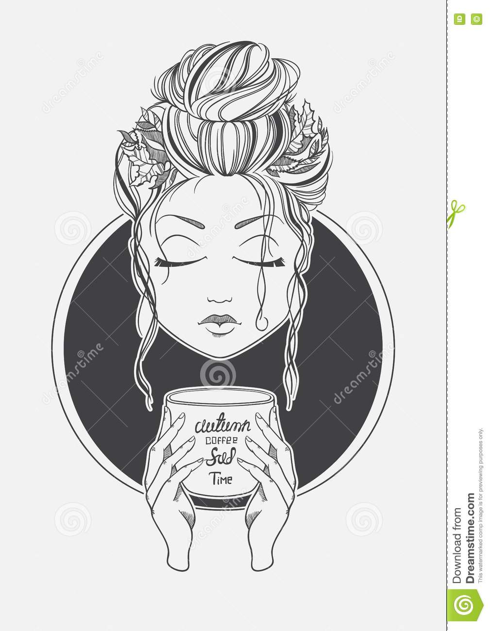 It's just an image of Remarkable Girl Drinking Drawing