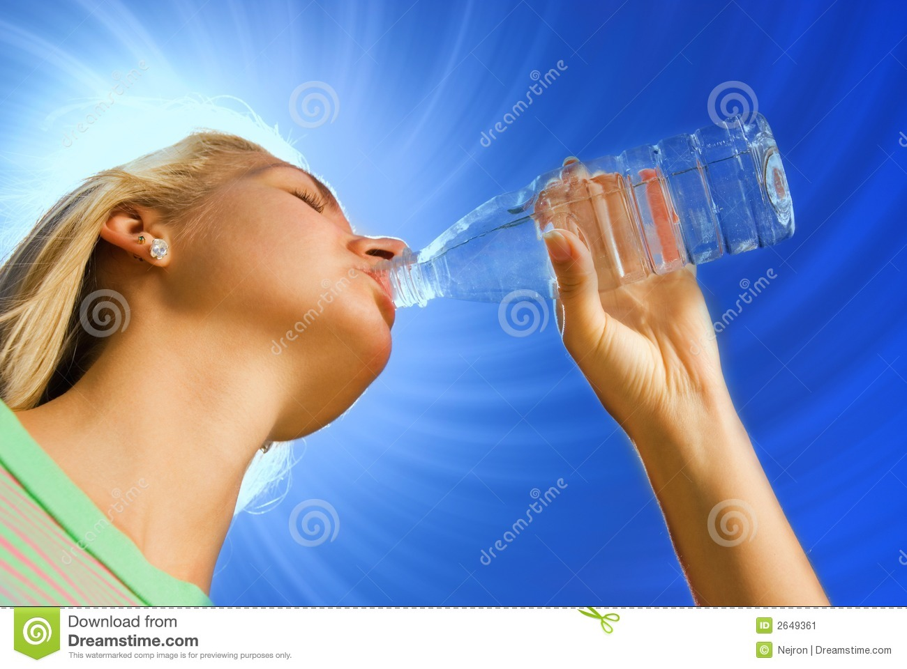 Girl Drinking Water Stock Image Image Of Jogging Healthy