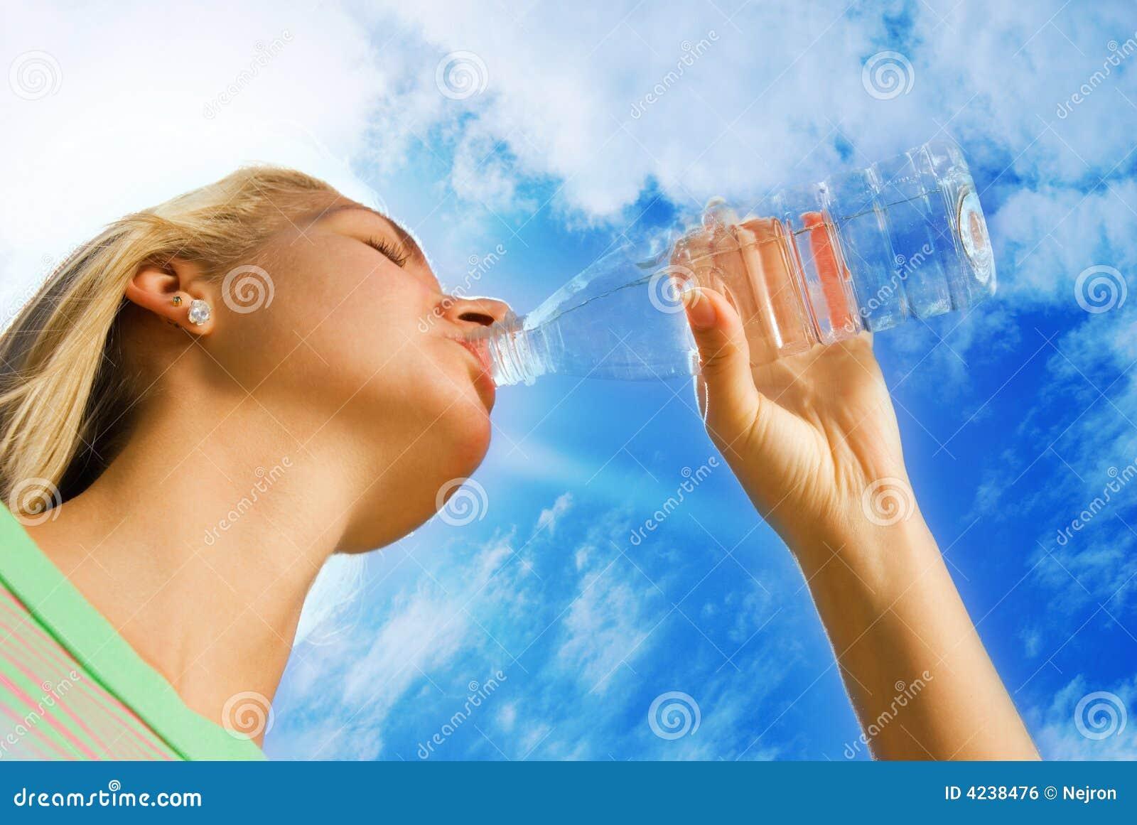 Girl Drinking Water Royalty Free Stock Image Image 4238476