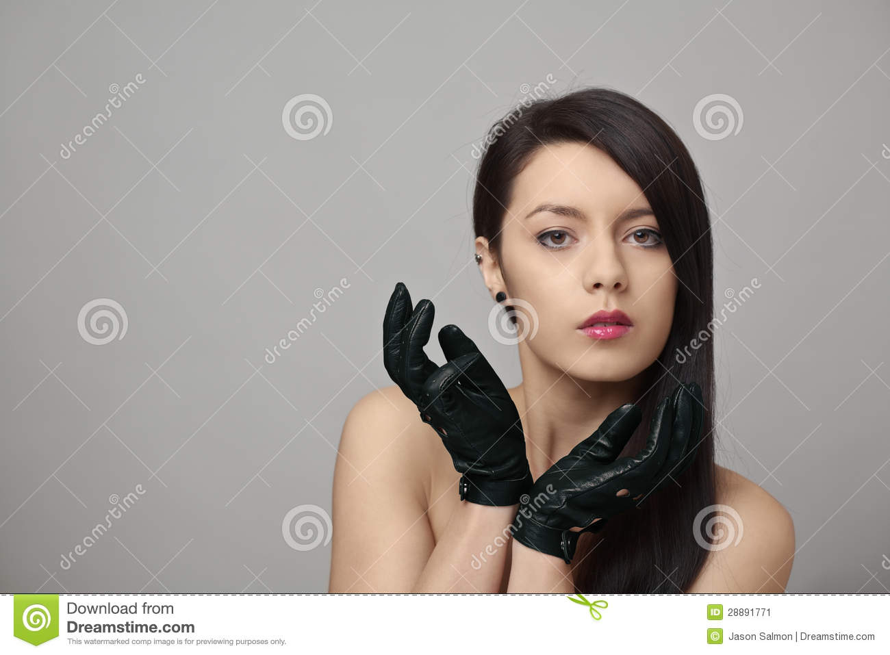 Driving gloves girl -