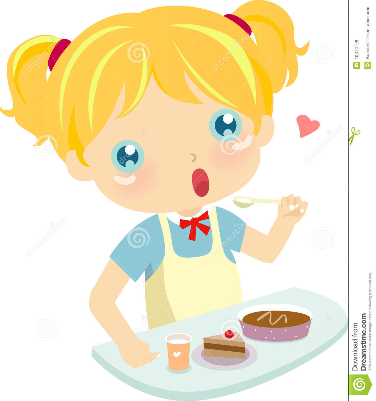 clipart girl eating breakfast - photo #37