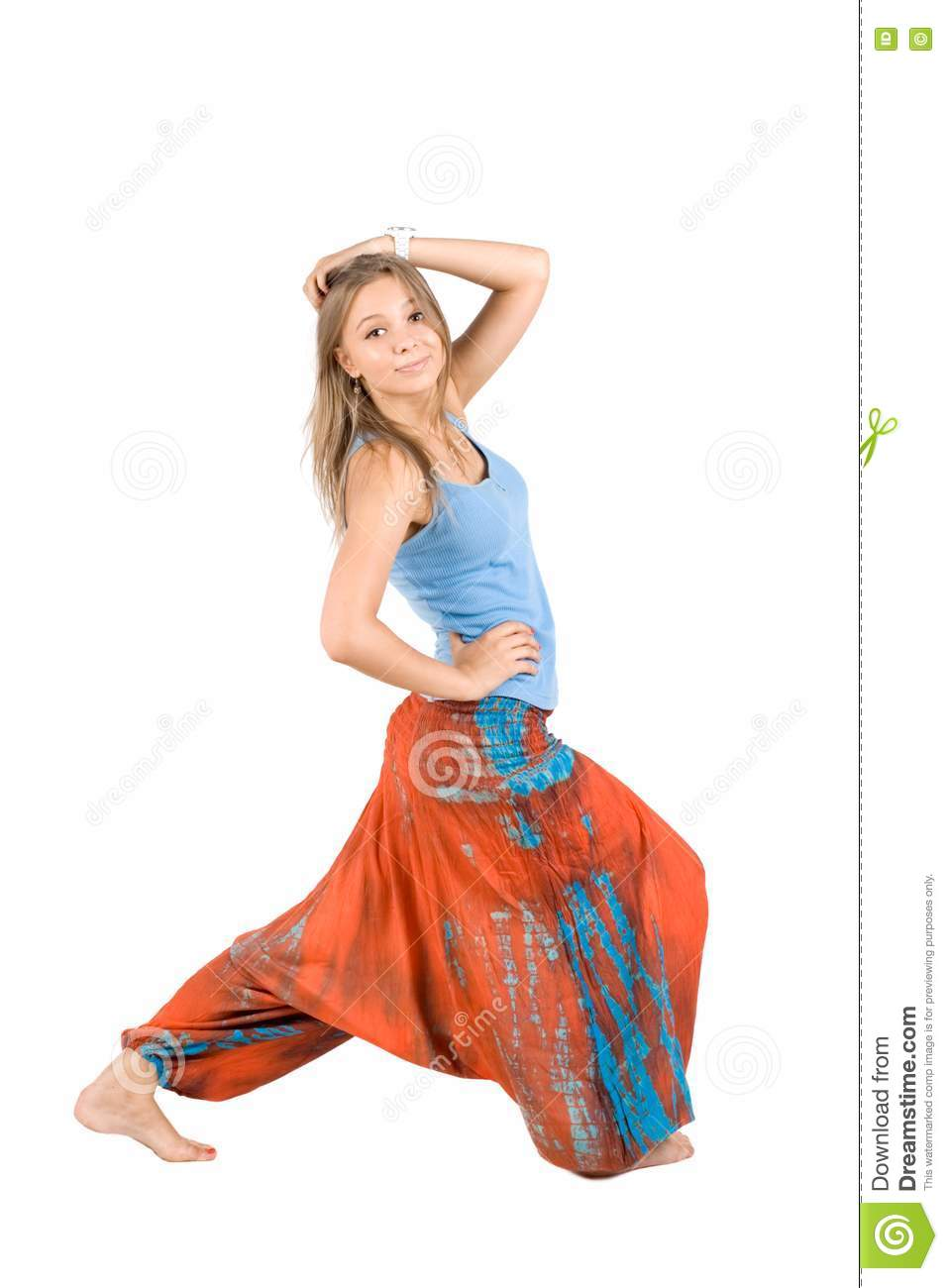 Girl In Ethnic Clothes Stock Photo Image 16006630