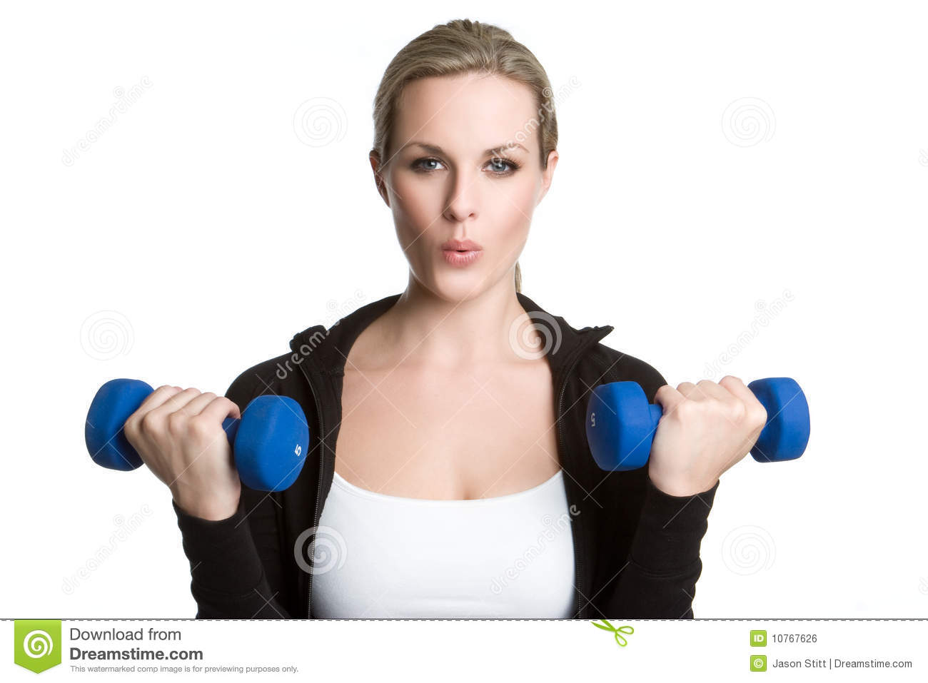 Girl Exercising Royalty Free Stock Image - Image: 10767626
