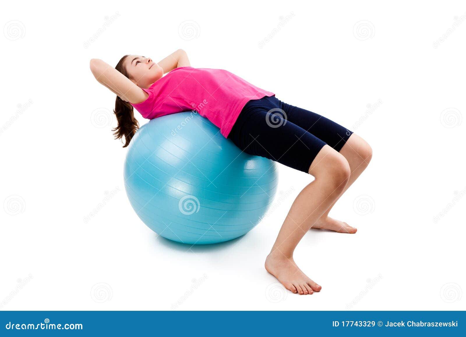 Girl exercising