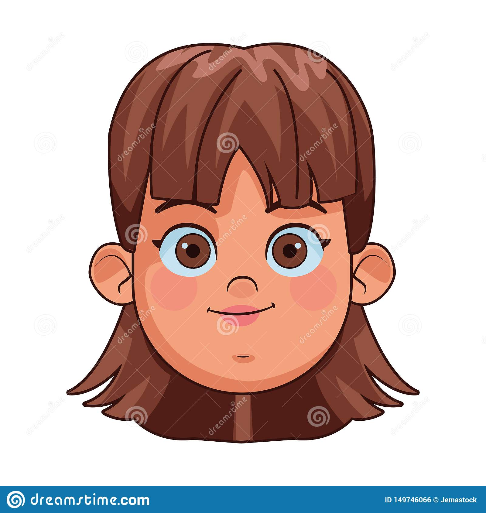 Girl Face Avatar Profile Picture Stock Vector Illustration Of