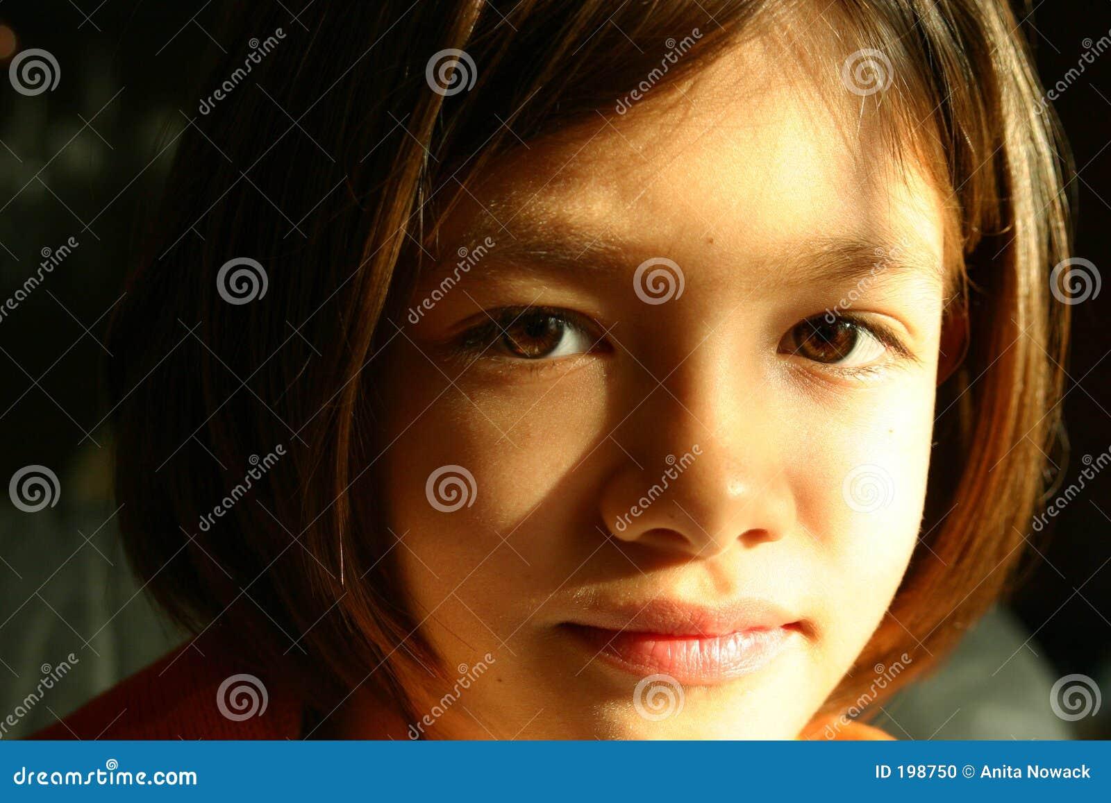 Girl face - expressive eyes