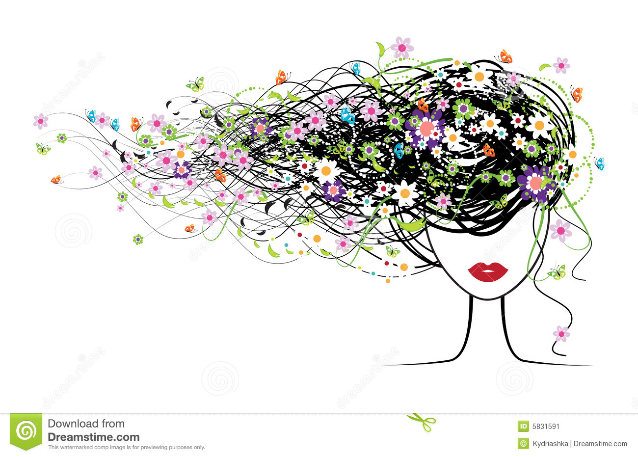 flower girl vector abstract - photo #23