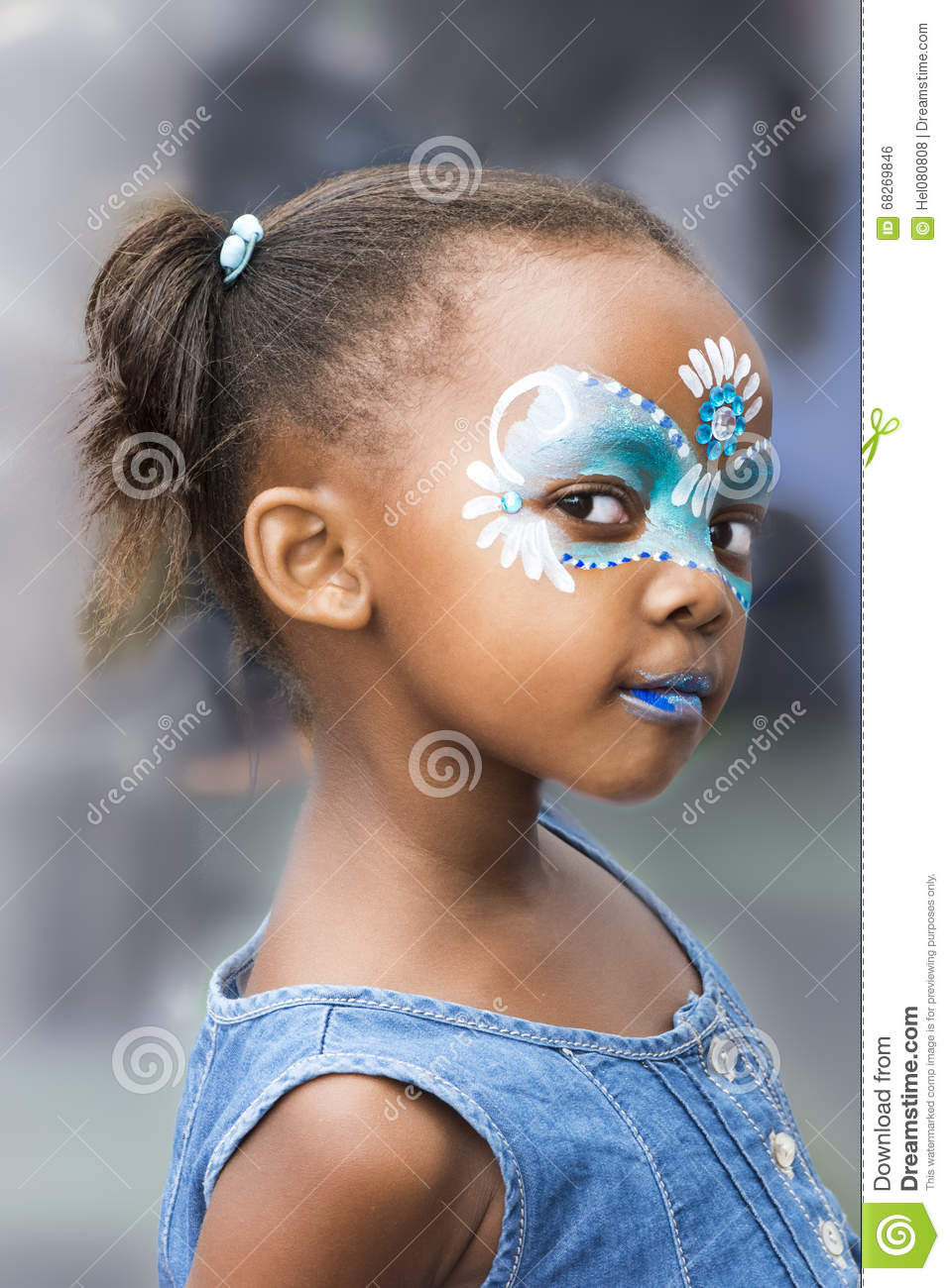 Girl Face Painting Stock Photo Image Of Fanciful Cute 68269846