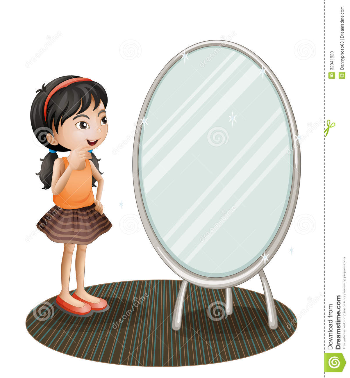 child looking in mirror clipart. royalty-free stock photo child looking in mirror clipart n