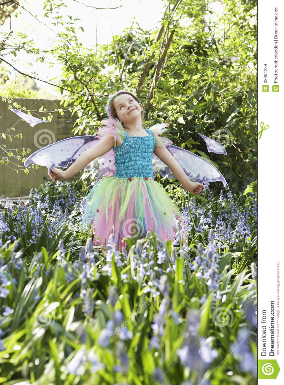 girl in fairy costume at flower garden royalty free stock images image 33904239. Black Bedroom Furniture Sets. Home Design Ideas