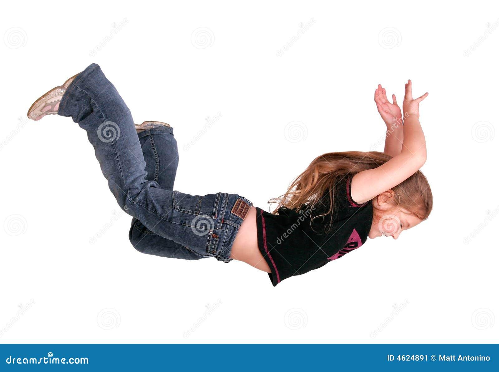 Girl falling stock image. Image of child, human, jump ...