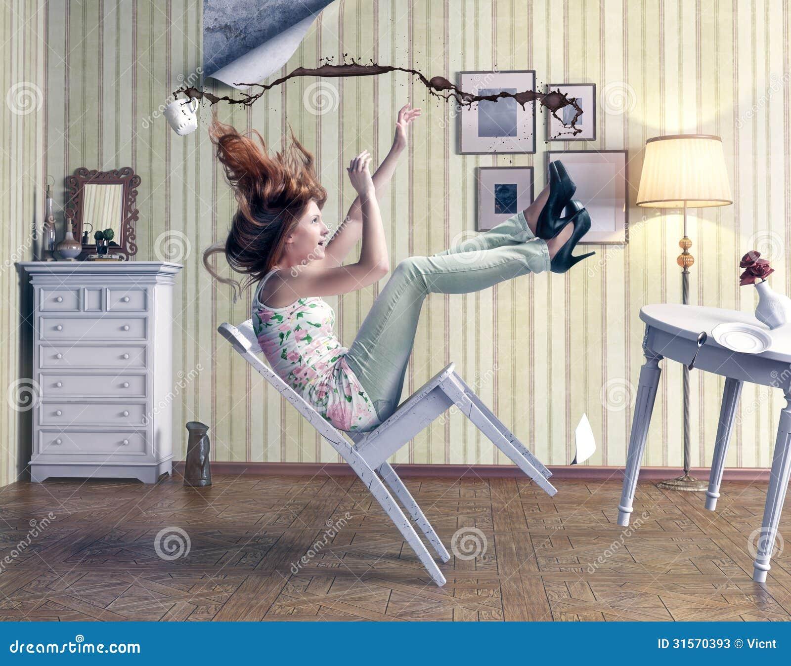 Girl Falls Stock Photos Image 31570393