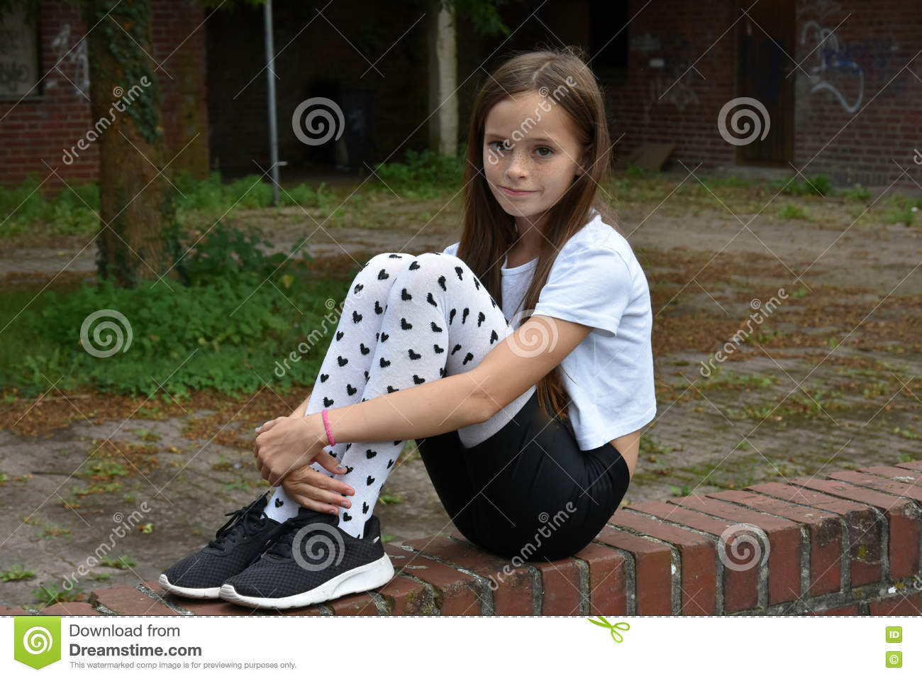 04ae72748 Girl With Fancy Pair Of Tights Stock Image - Image of good
