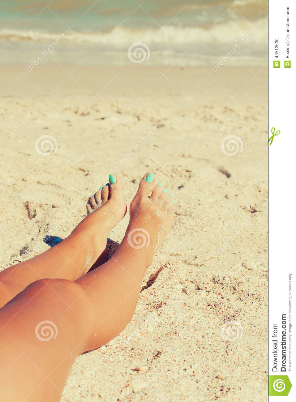 girlfeet Girl feet in the sand on the beach