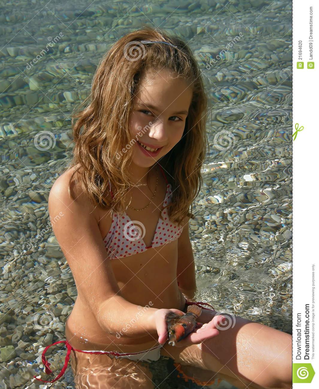 Young Little Girls Bathing Suit