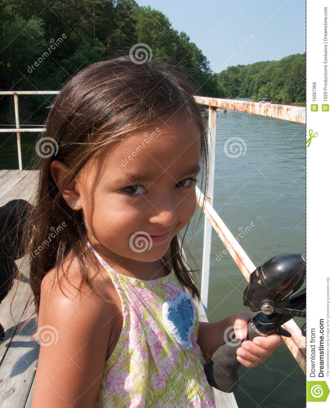Girl with fishing rod royalty free stock image image for Girl fishing pole