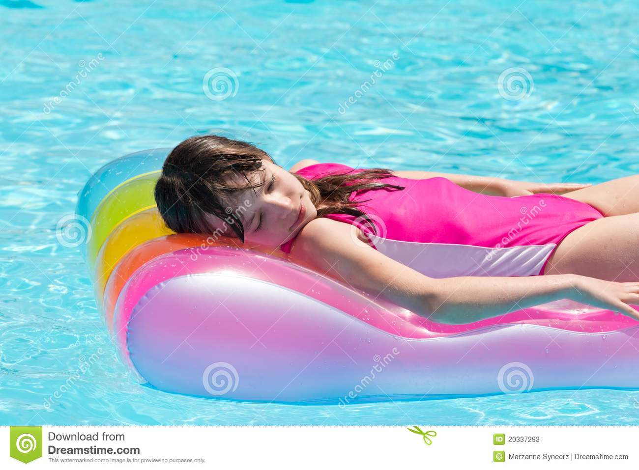 Sleeping In Pool Float