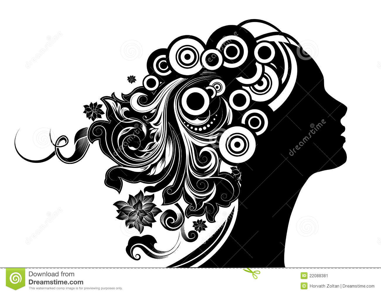 Hairstyle Vector: Vector Illustration Stock Vector