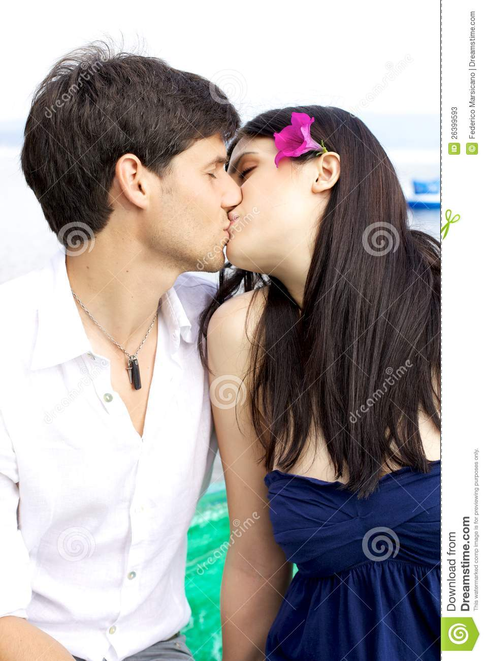 Girl Kissing Her Boyfriend